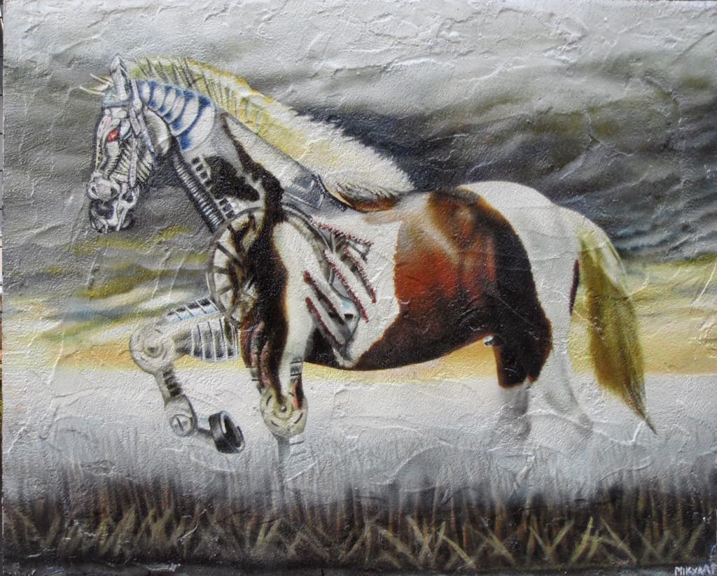 Cavallo bionico pannello grande 1z1