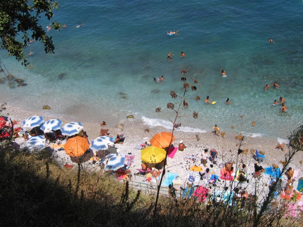 Spiaggia dell' isola di Capri