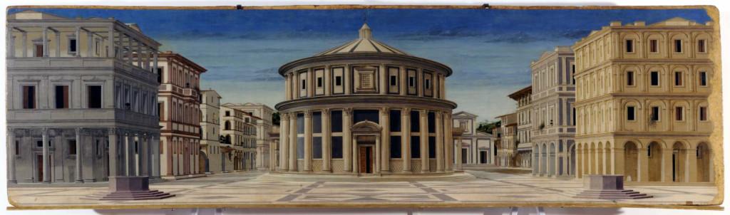 Anonimo[4], Città ideale (1480-1490 circa), Galleria Nazionale delle Marche, Urbino