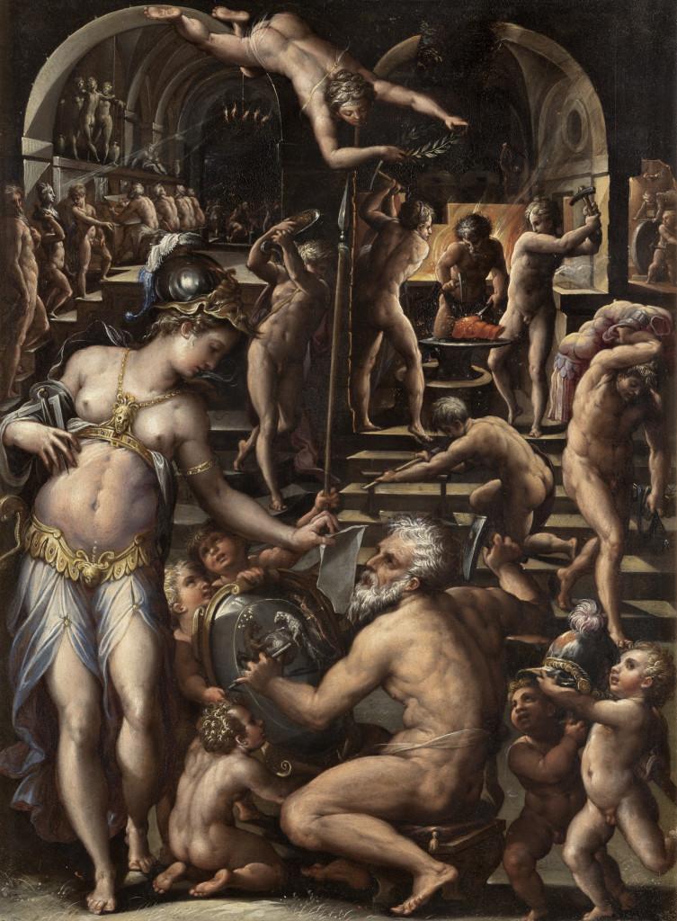Giorgio Vasari, la Fucina di Vulcano (1564 circa) Galleria degli Uffizi